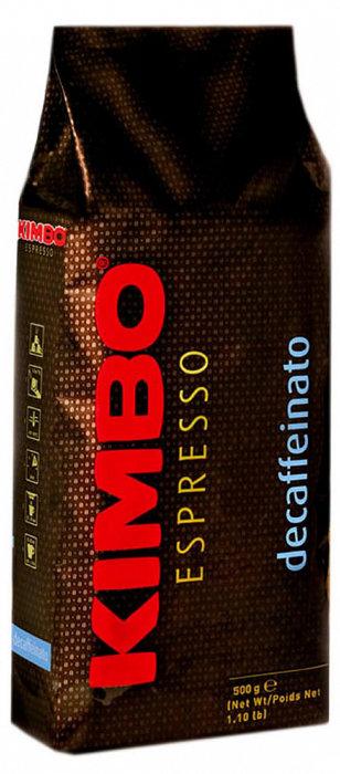 Кофе в зернах КИМБО KIMBO  Decaffeinato 500 гр